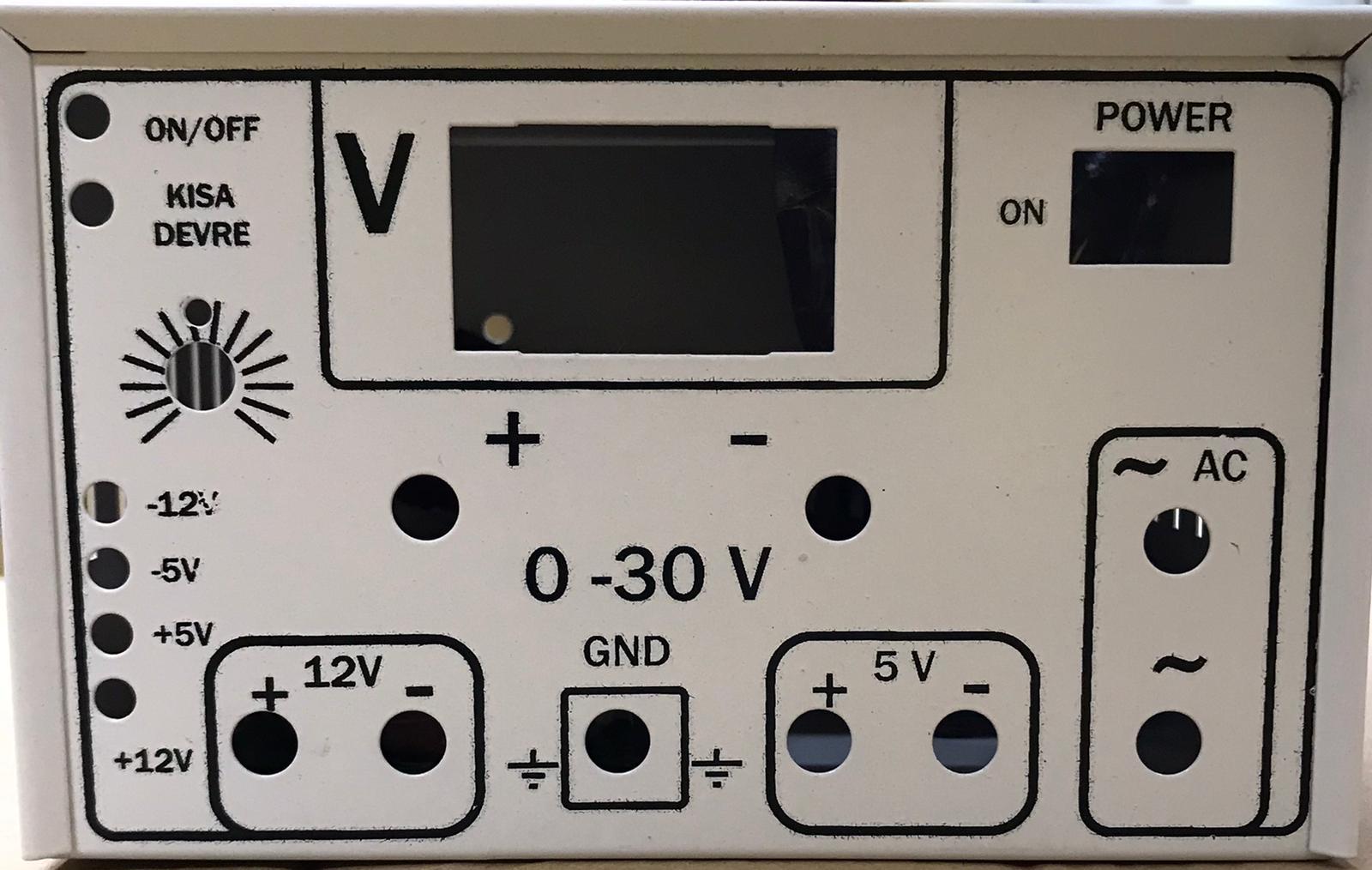 0 - 30V Ayarlı Demonte Güç Kaynağı (Simetrik besleme +/- 12V ve +/- 5V ile) resmi 2