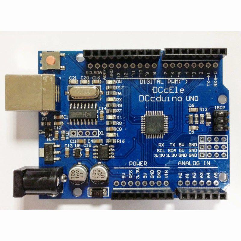 Arduino Uno R3 ch340 smd chip (usb kablo dahil) resmi 1