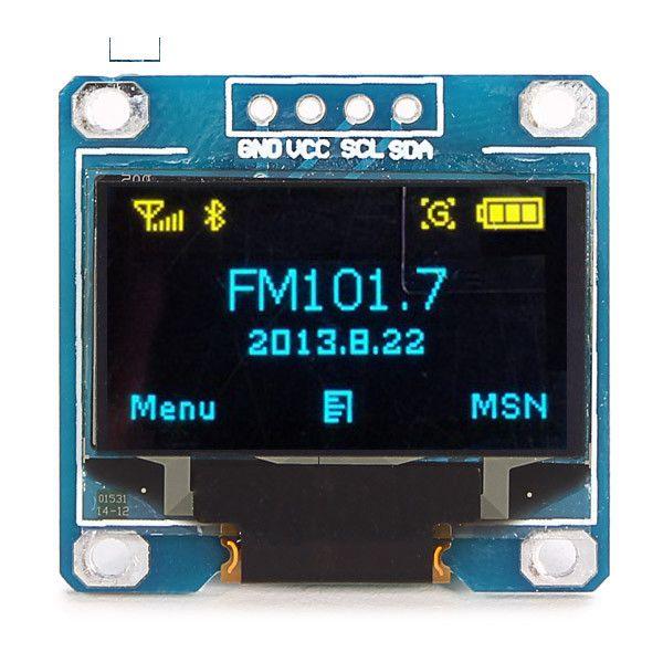 0.96 inch OLED module  128X64 Blue ( 0.96 Inch OLED Ekran ) resmi 1