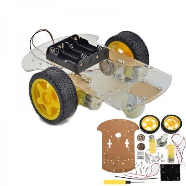 2 WD Robot Araba Kiti(KALİTELİ ŞASİ İLE) resmi 1