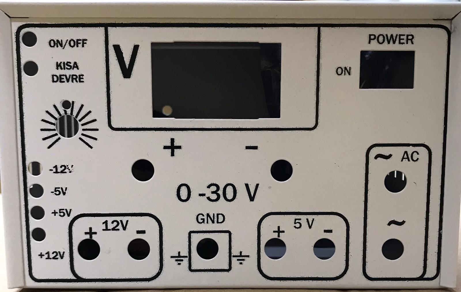 0 - 30V Ayarlı Demonte Güç Kaynağı (Simetrik besleme +/- 12V ve +/- 5V ile) resmi 1